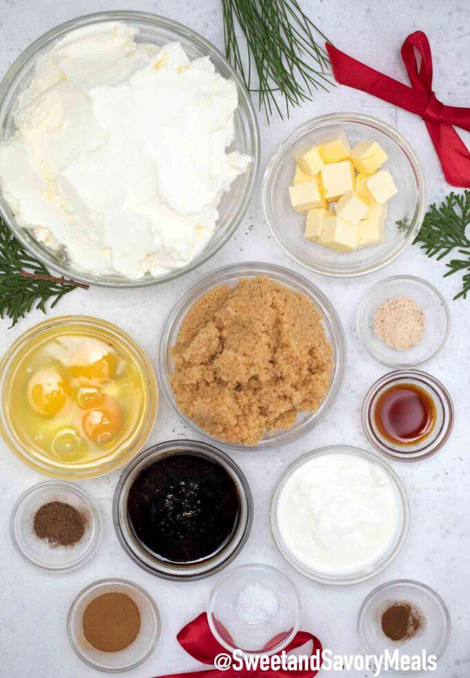 gingerbread cheesecake ingredients