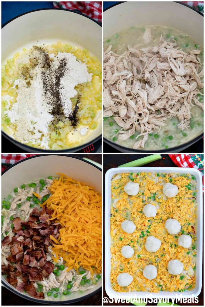 steps how to make chicken and dumplings casserole