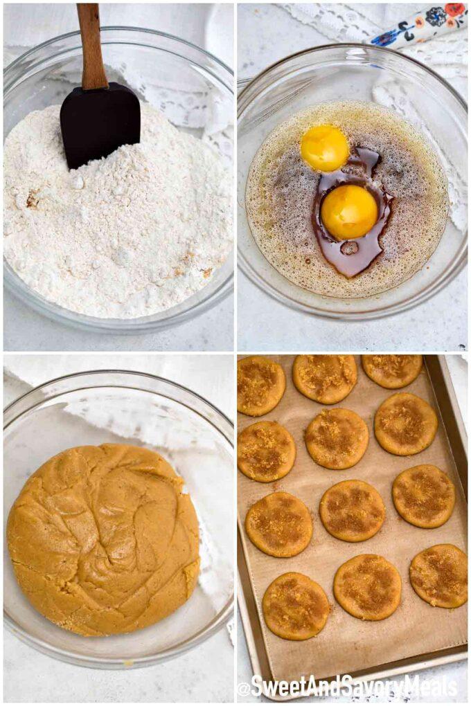 steps how to make brown sugar cookies