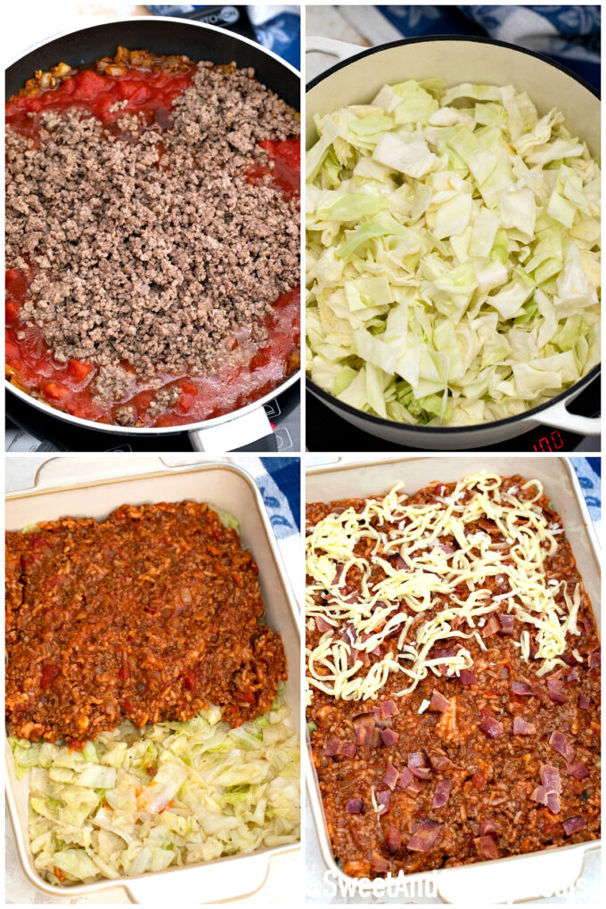 steps how to make stuffed cabbage casserole