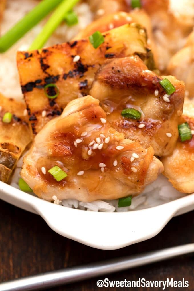panda express mandarin teriyaki chicken with rice
