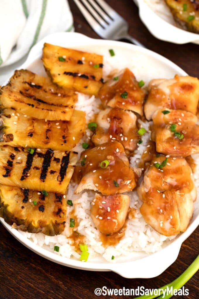 panda express mandarin teriyaki chicken with grilled pineapple