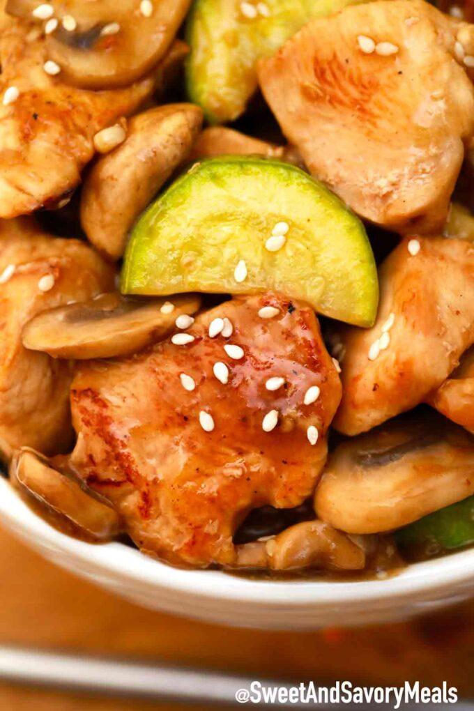mushroom chicken with zucchini