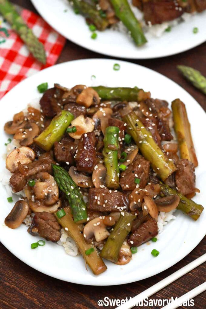 Panda Express Shanghai Angus steak with rice