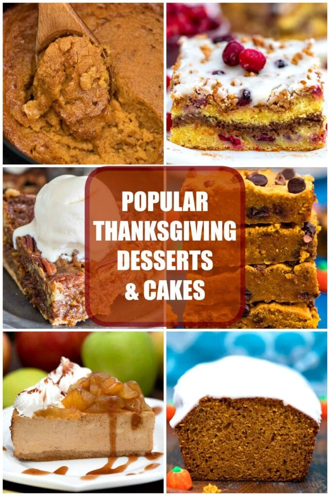 popular thanksgiving desserts and cakes