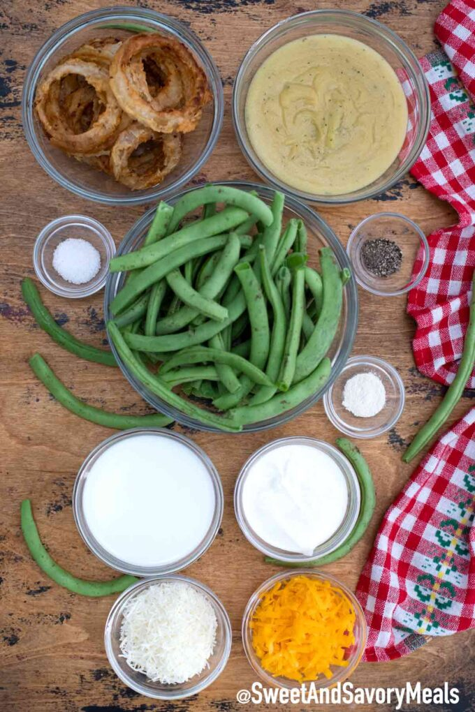 crockpot green bean casserole ingredients