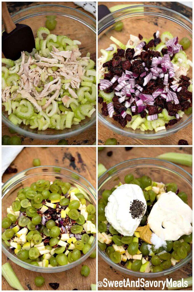 steps how to make turkey salad