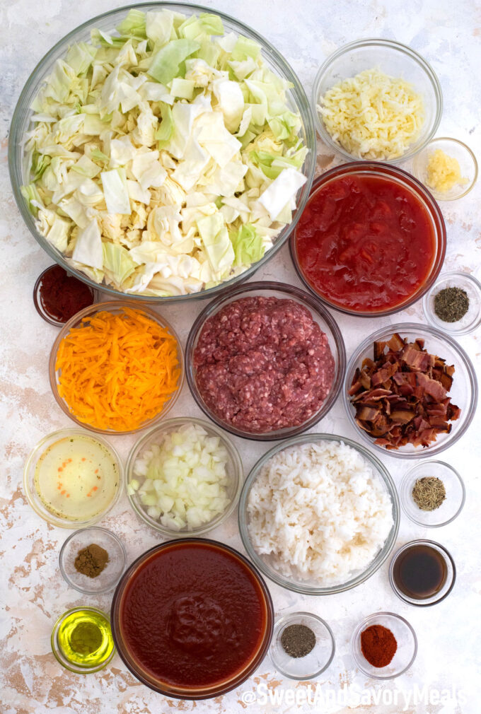 stuffed cabbage casserole ingredients