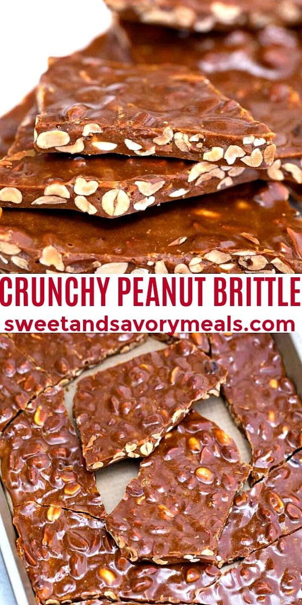 easy crunchy peanut brittle pin