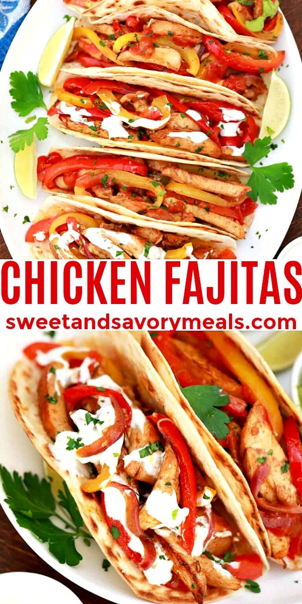 easy chicken fajitas pin