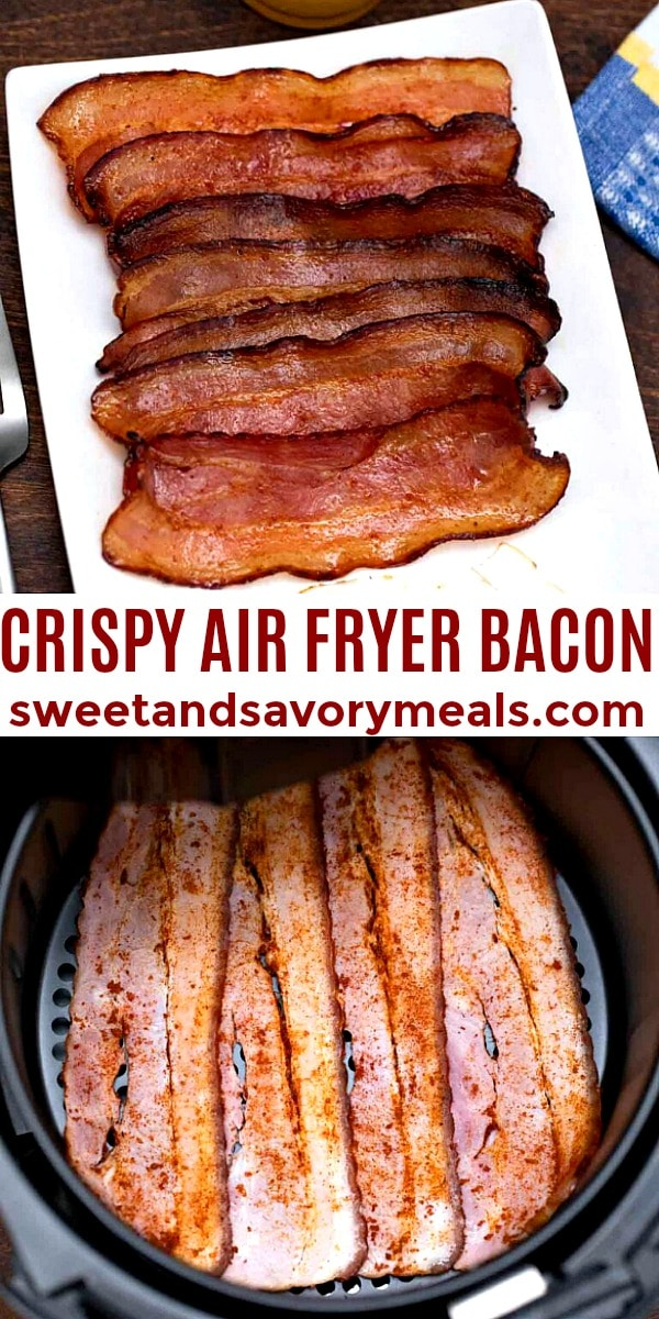 easy crispy air fryer bacon pin