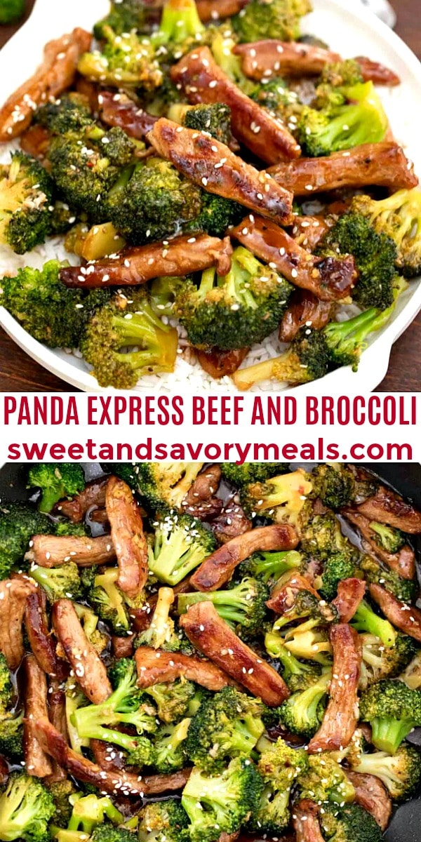 easy panda express beef and broccoli pin