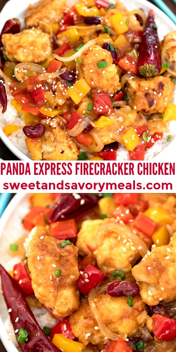 easy panda express firecracker chicken pin