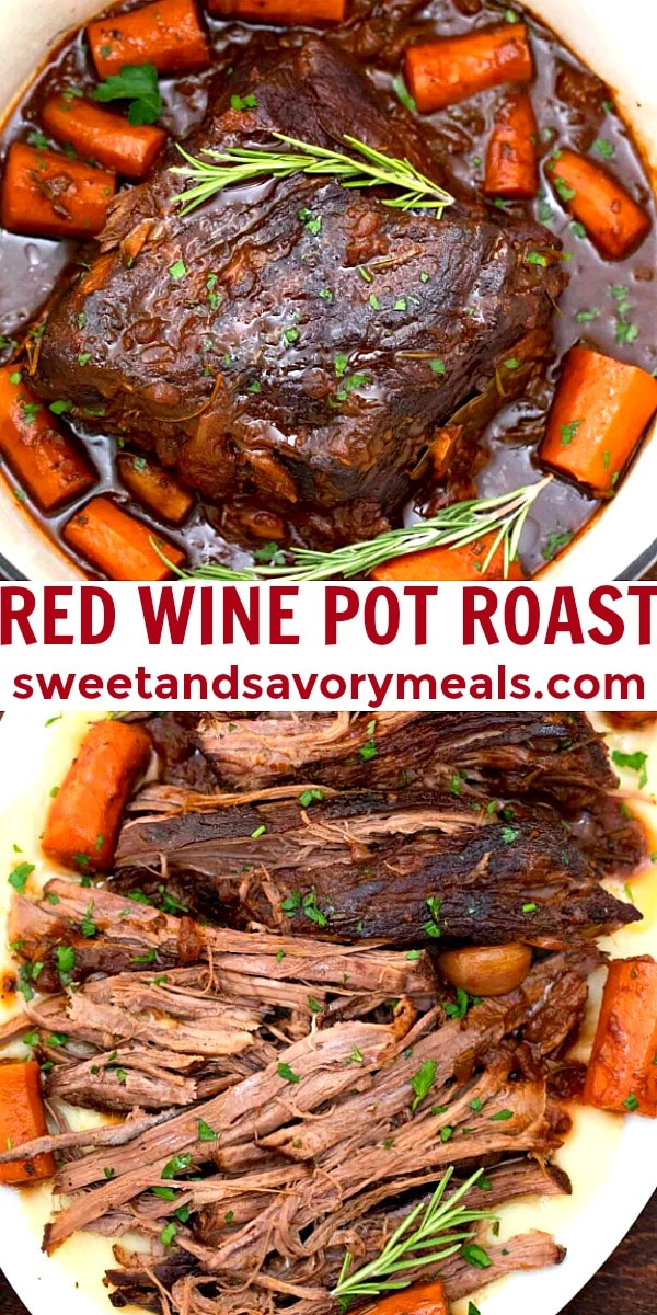 easy red wine pot roast pin
