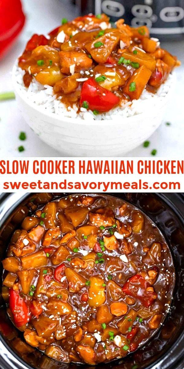 easy slow cooker hawaiian chicken pin