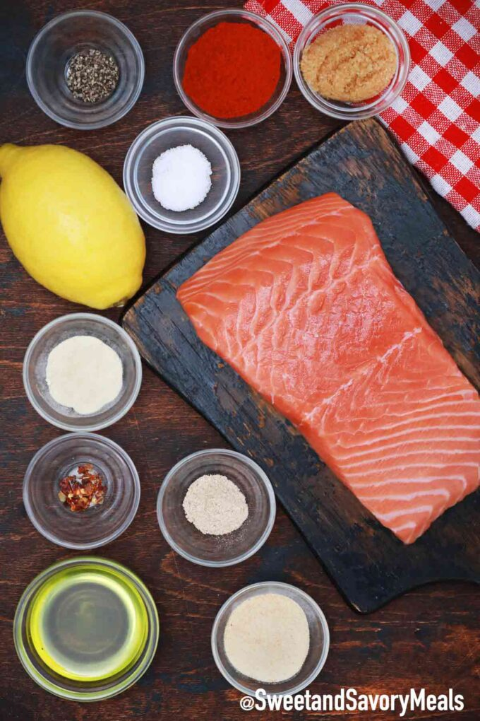 air fryer salmon ingredients