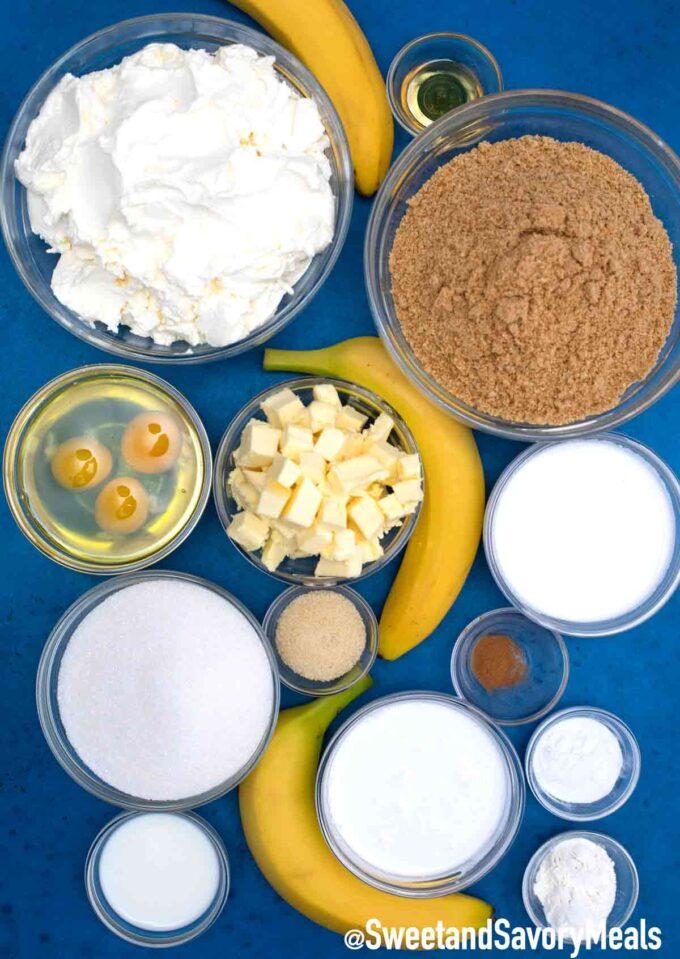 banana cream cheesecake ingredients