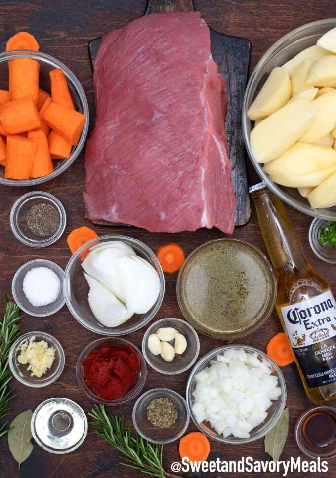 beer pot roast ingredients
