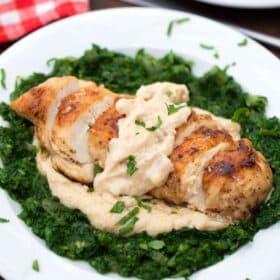 chicken Florentine with spinach