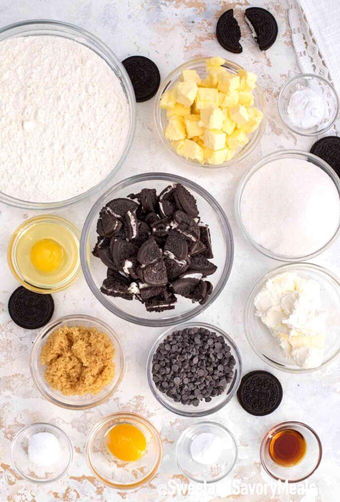 cookies and cream cookies ingredients