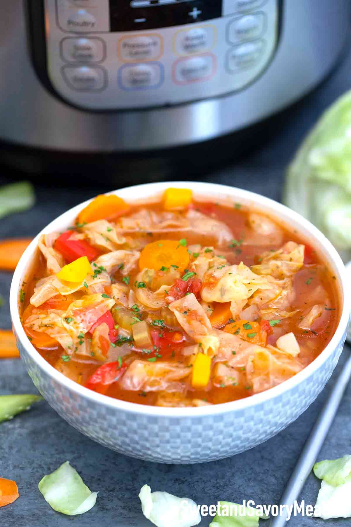 Instant Pot Cabbage Soup Sweet And Savory Meals