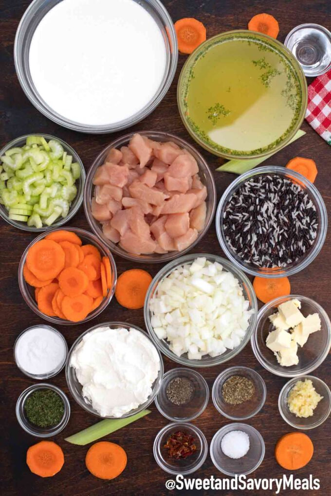 instant pot chicken and rice soup ingredients