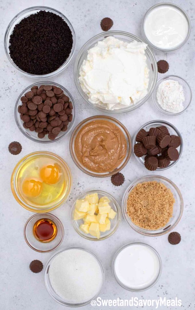 instant pot peanut butter cheesecake ingredients