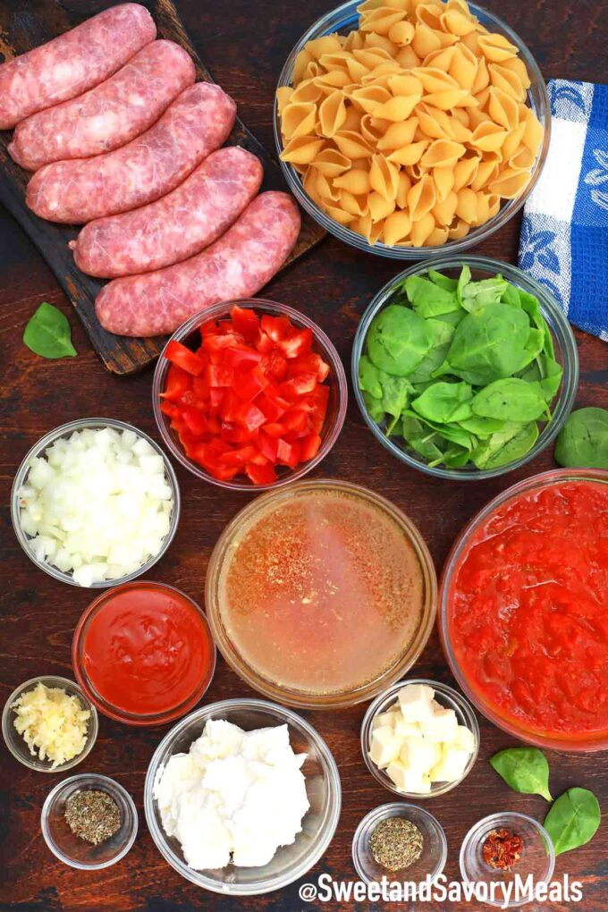 instant pot spicy sausage pasta ingredients