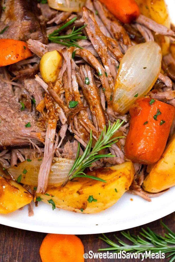 beer braised pot roast