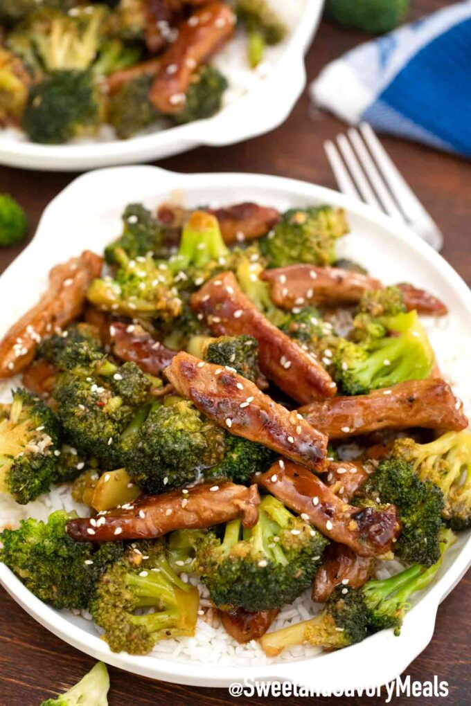 Panda Express beef and broccoli with rice