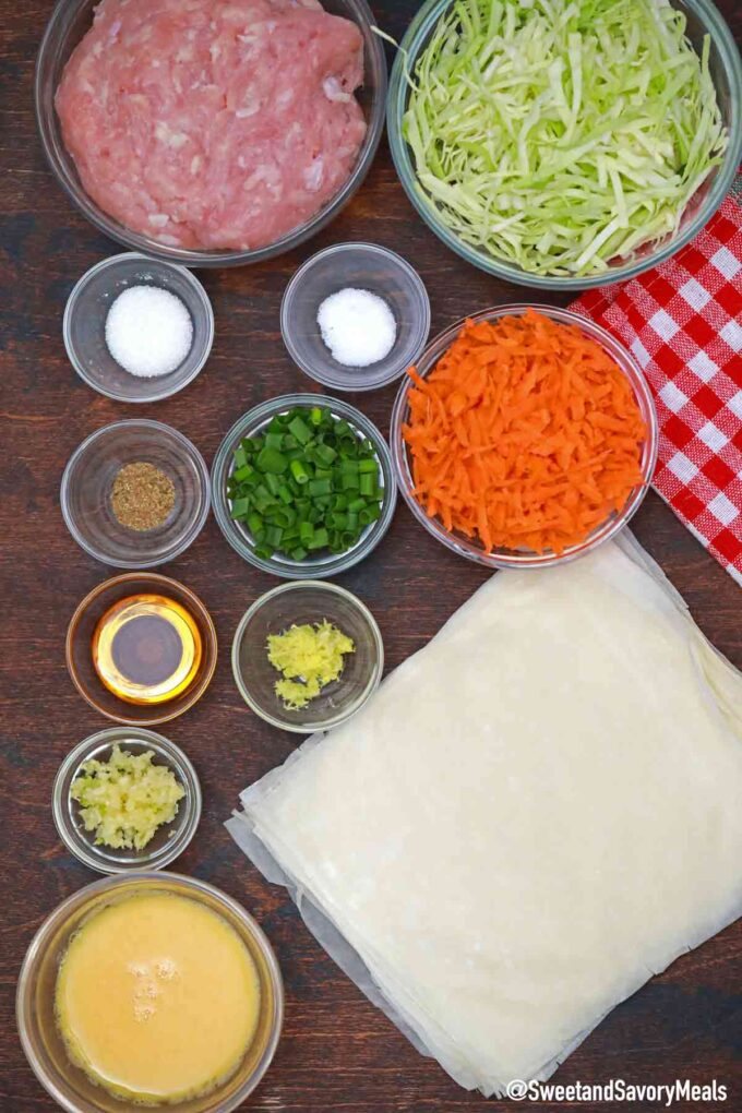 chicken egg rolls ingredients
