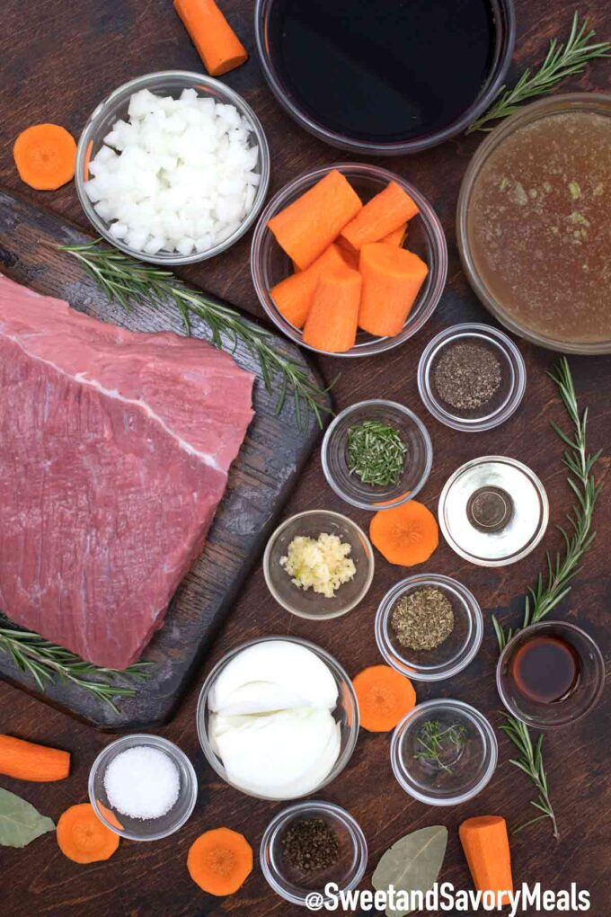 red wine pot roast ingredients