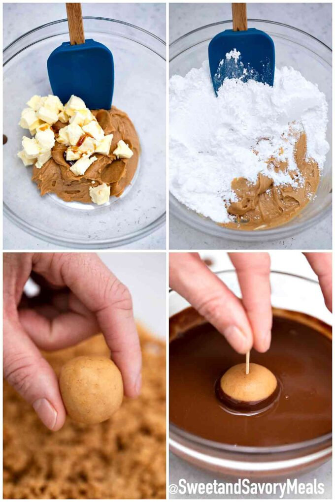 steps how to make buckeyes
