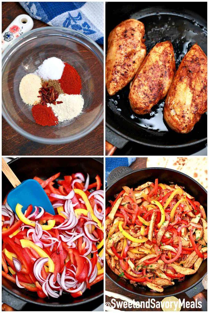 steps how to make chicken fajitas