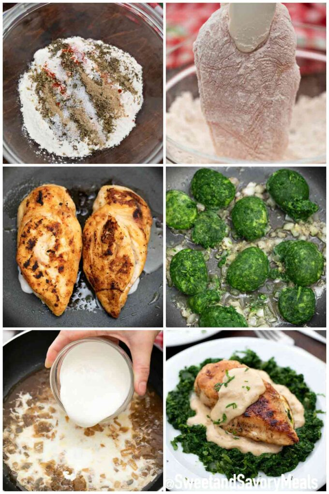 steps how to make chicken Florentine