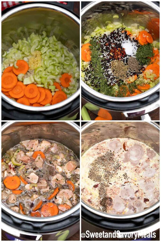 steeps how to make instant pot chicken and rice soup