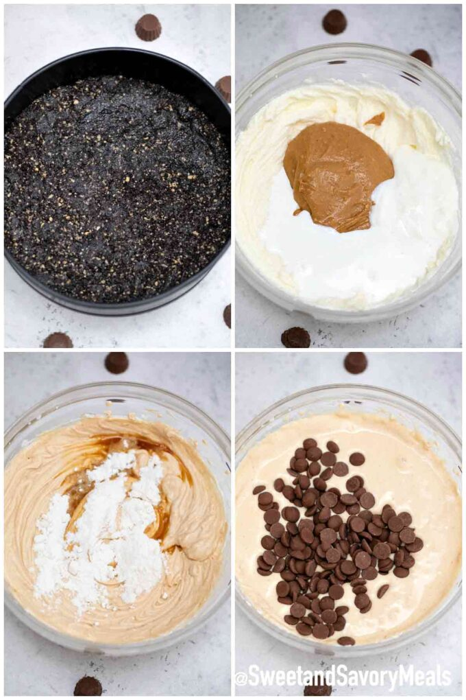 steps how to make instant pot peanut butter cheesecake