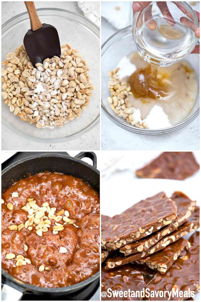 steps how to make peanut brittle