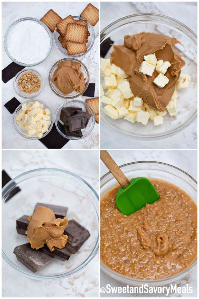 Schritte, wie man Erdnussbutterriegel macht