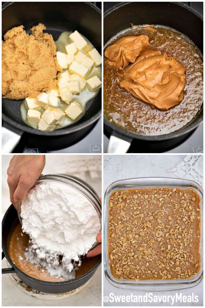 steps how to make peanut butter fudge