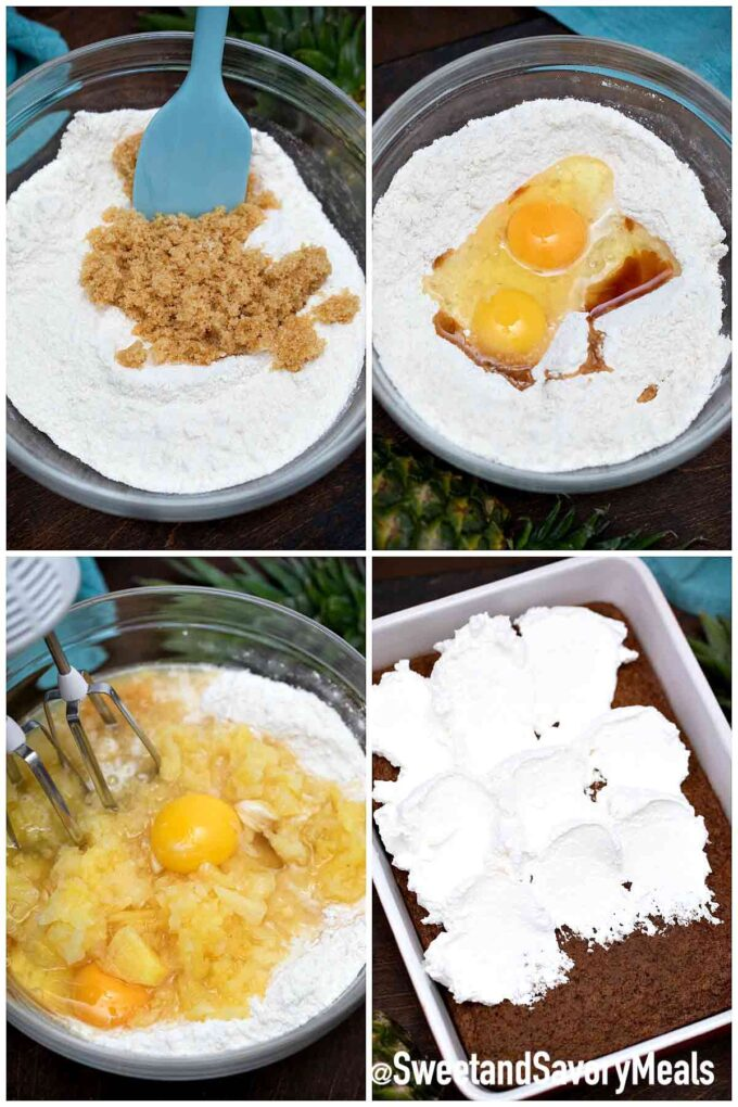 steps how to make pineapple cake