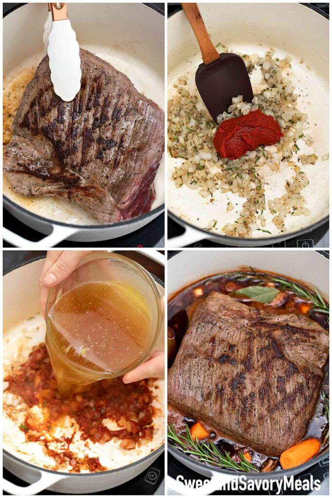 steps how to make red wine pot roast