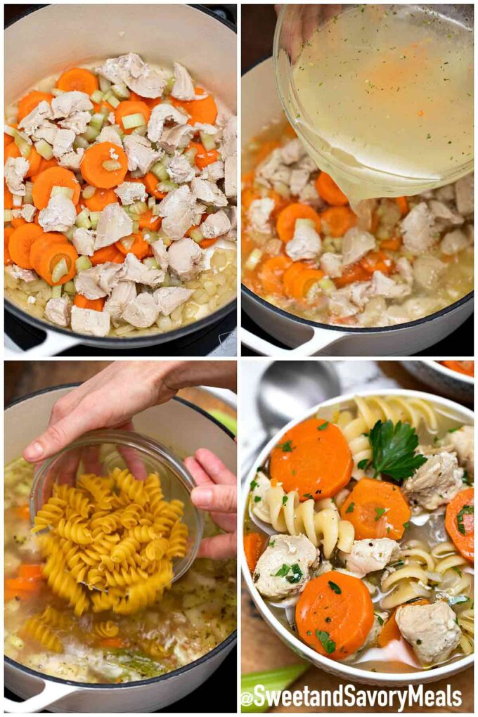 steps how to make turkey soup