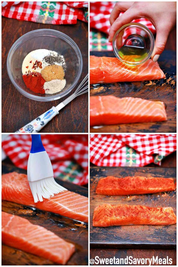 steps how to make air fryer salmon