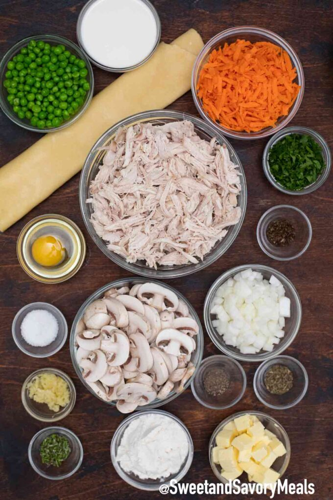 turkey pot pie ingredients