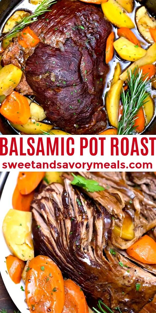 easy balsamic pot roast pin