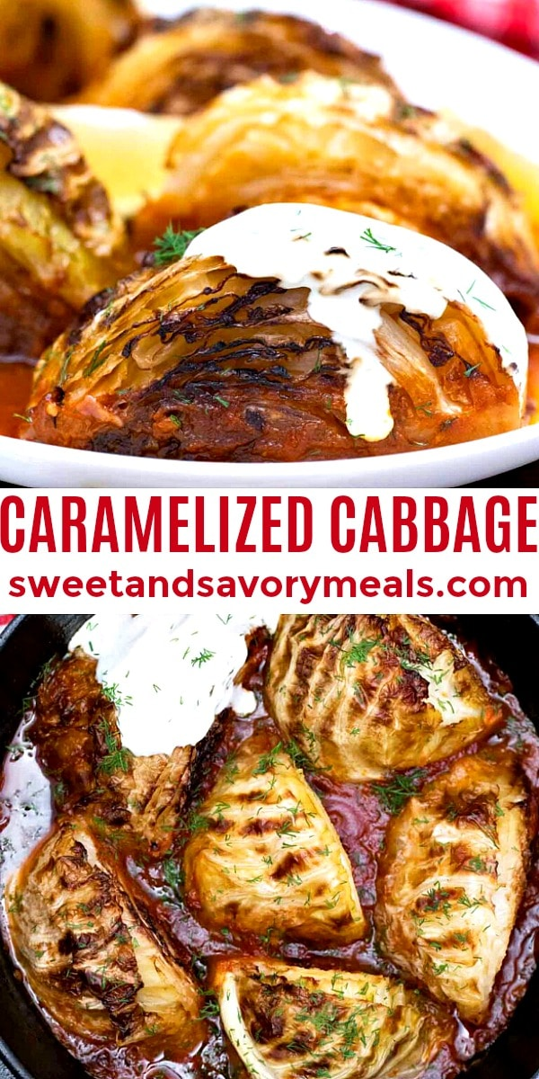 easy caramelized cabbage pin