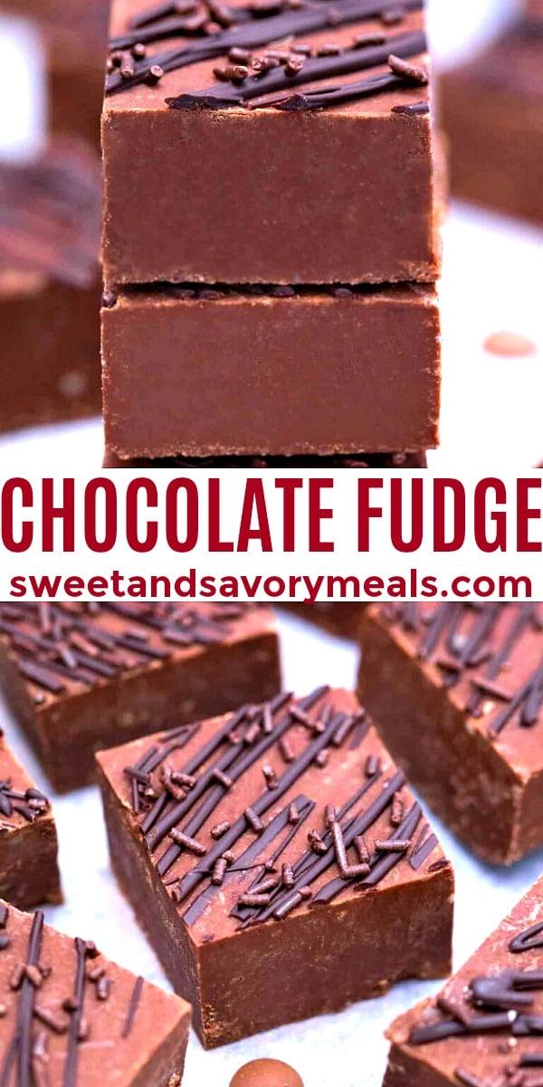 easy chocolate fudge pin