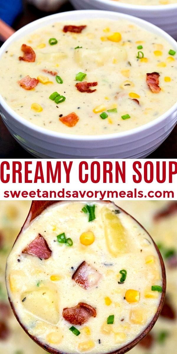 easy corn soup pin