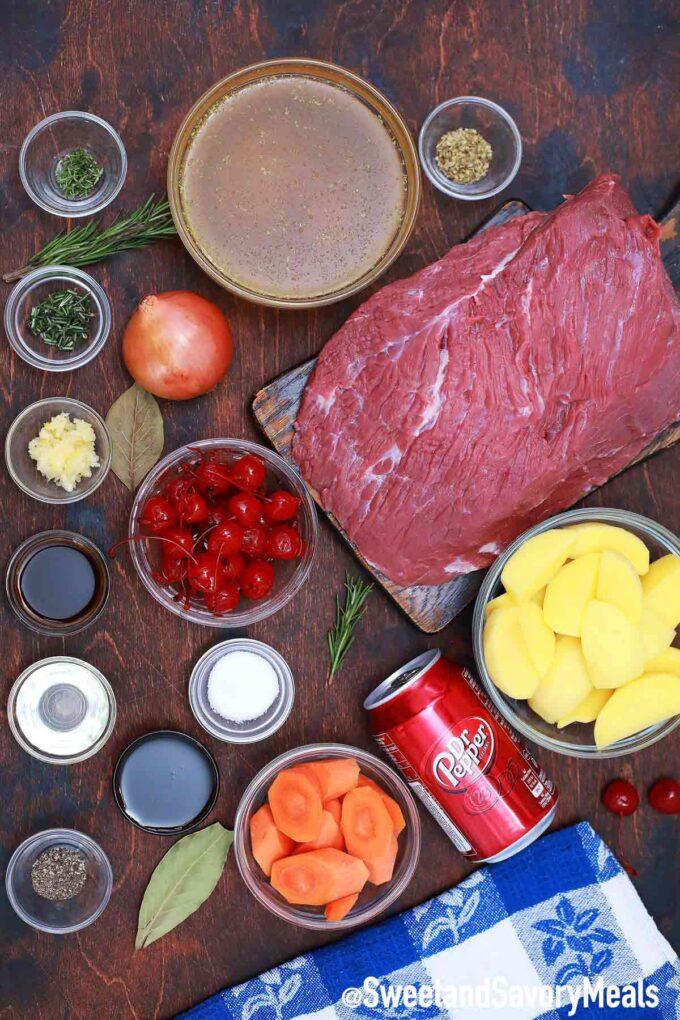 Dr. pepper pot roast ingredients